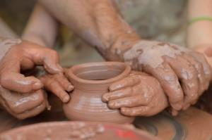 hands clay