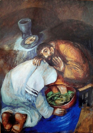 Jim Forest Sieger Painting Footwashing (2)
